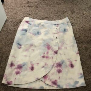 Anthropologie Tie-dye Tulip midi skirt